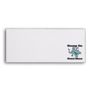 Elephant Stomp On Mental Illness (green) Envelopes