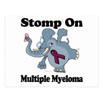 Elephant Stomp On Multiple Myeloma Postcard