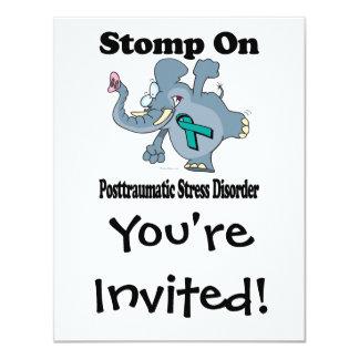 Elephant Stomp On Posttraumatic Stress Disorder Card
