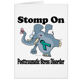Elephant Stomp On Posttraumatic Stress Disorder Card