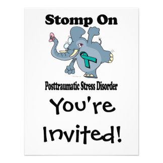 Elephant Stomp On Posttraumatic Stress Disorder Custom Announcement