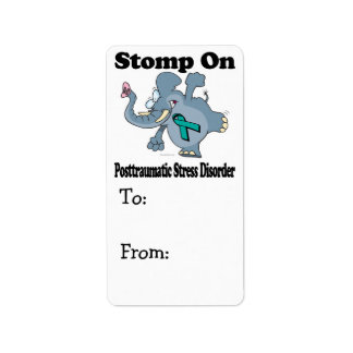 Elephant Stomp On Posttraumatic Stress Disorder Personalized Address Label