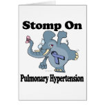Elephant Stomp On Pulmonary Hypertension Greeting Card