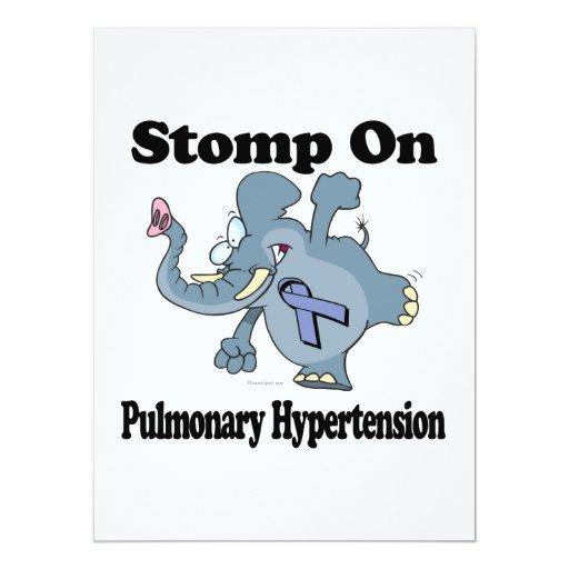 Elephant Stomp On Pulmonary Hypertension 6.5x8.75 Paper Invitation Card