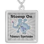 Elephant Stomp On Pulmonary Hypertension Personalized Necklace