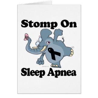 Elephant Stomp On Sleep Apnea Card