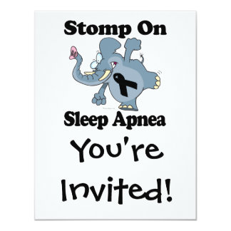 Elephant Stomp On Sleep Apnea Card