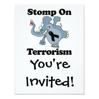 Elephant Stomp On Terrorism Card