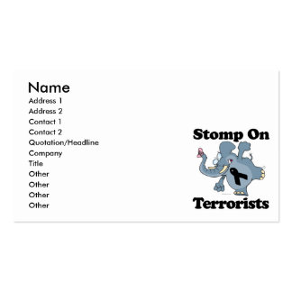 Elephant Stomp On Terrorists Double-Sided Standard Business Cards (Pack Of 100)