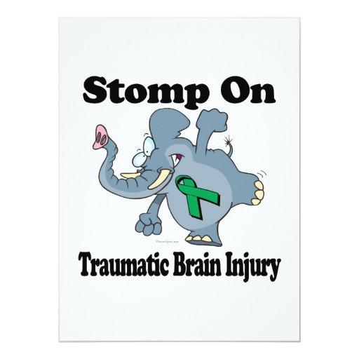 "Elephant Stomp On Traumatic Brain Injury 6.5"" X 8.75"" Invitation Card"