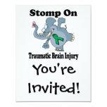 "Elephant Stomp On Traumatic Brain Injury 4.25"" X 5.5"" Invitation Card"