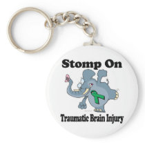 Elephant Stomp On Traumatic Brain Injury Keychain
