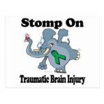 Elephant Stomp On Traumatic Brain Injury Postcard