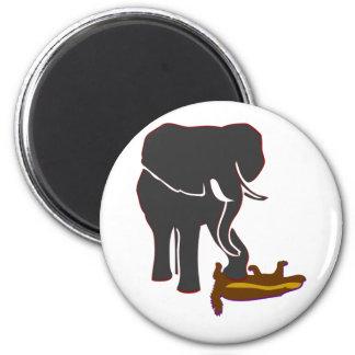 Elephant Stomps Honey Badger 2 Inch Round Magnet