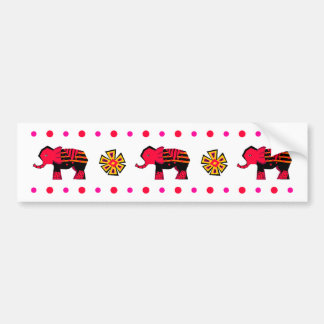 Elephant Stripe Bumper Sticker Car Bumper Sticker