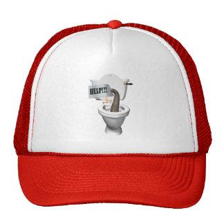 Elephant Stuck In Toilet Trucker Hat