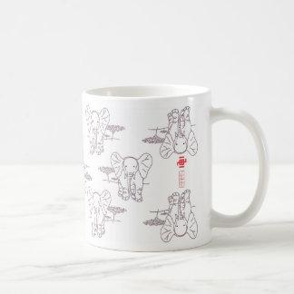 Elephant style coffee mug