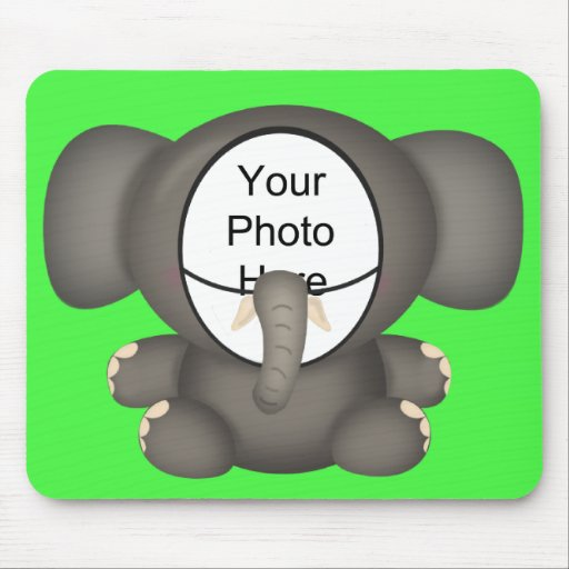 Elephant Suit Mouse Pad Photo Template (Green)