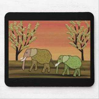 Elephant Sunset Mouse Pad
