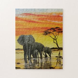 elephant sunset puzzle