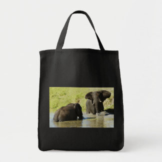 Elephant swimming (african elephant) bag