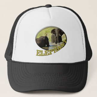 Elephant swimming wildlife safari hats