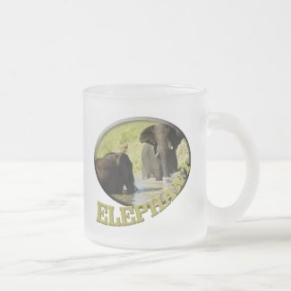 Elephant swimming wildlife safari mugs mug