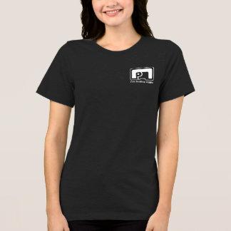 Elephant symbol women's black jersey tshirt HQH
