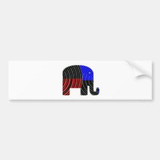 Elephant Task - Politics of Donkeys 2012 Car Bumper Sticker