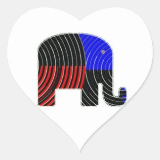 Elephant Task - Politics of Donkeys 2012 Heart Sticker