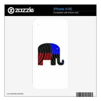 Elephant Task - Politics of Donkeys 2012 Skin For iPhone 4S