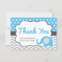 Elephant Thank You Card, EDITABLE COLOR
