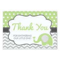 Elephant Thank You Card, EDITABLE COLOR Card