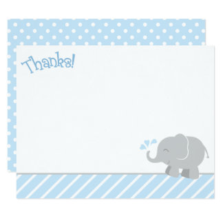 Elephant Thank You Note Cards | Blue and Gray