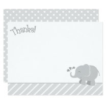 Elephant Thank You Note Cards | Gray and White