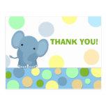 Elephant Thank You Postcard