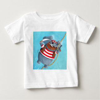Elephant - The Best Pirate Animal Baby T-Shirt