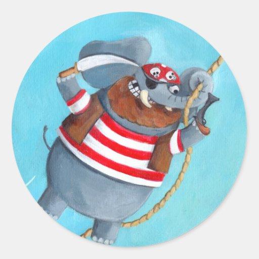 Elephant - The Best Pirate Animal Classic Round Sticker