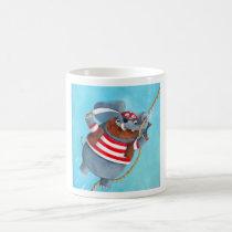 artsprojekt, elephant pirate, elephant, animal pirate, pirate, corsair, animal, amnimal sailor, cute animal, pirates, loot, treasure, looting, cute pirate, children illustration, illustration, children, kid, kids, nursery, pirate gift, pirate present, elephant gift, elephant present, Mug with custom graphic design