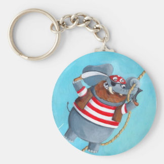 Elephant - The Best Pirate Animal Basic Round Button Keychain