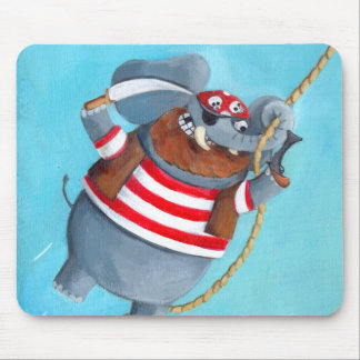 Elephant - The Best Pirate Animal Mouse Pad