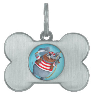 Elephant - The Best Pirate Animal Pet Name Tag