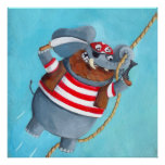 Elephant - The Best Pirate Animal Poster
