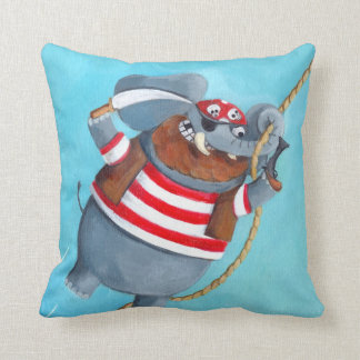 Elephant - The Best Pirate Animal Throw Pillow