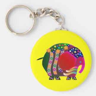 Elephant the celebrator: Party party Keychain