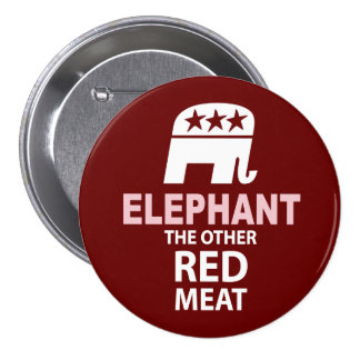 Elephant The Other Red Meat 3 Inch Round Button