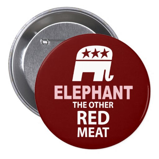 Elephant The Other Red Meat Pins