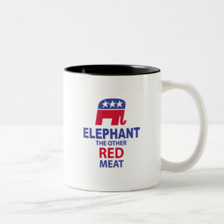 Elephant The Other Red Meat Two-Tone Coffee Mug