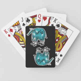 elephant the soccer player playing cards