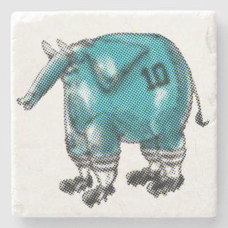 elephant the soccer player stone coaster